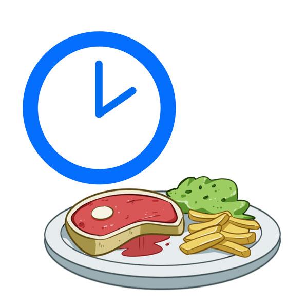 hora de almorzar