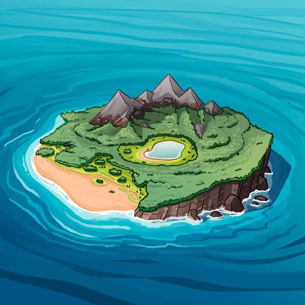 (Adj) Aquatic Surroundings