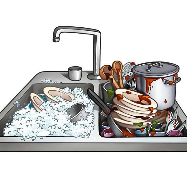 platos para fregar