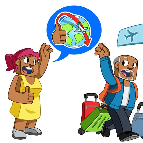 wish someone a good trip