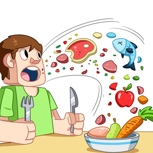 (V) Actions of Feeding