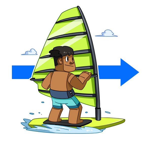go windsurfing