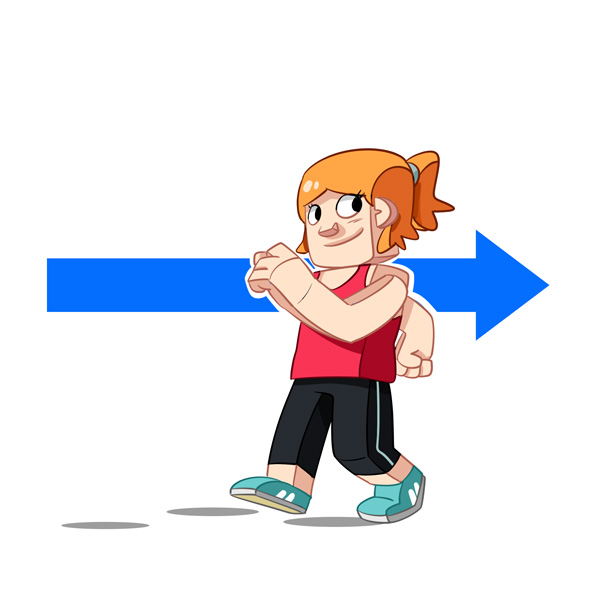walk backwards