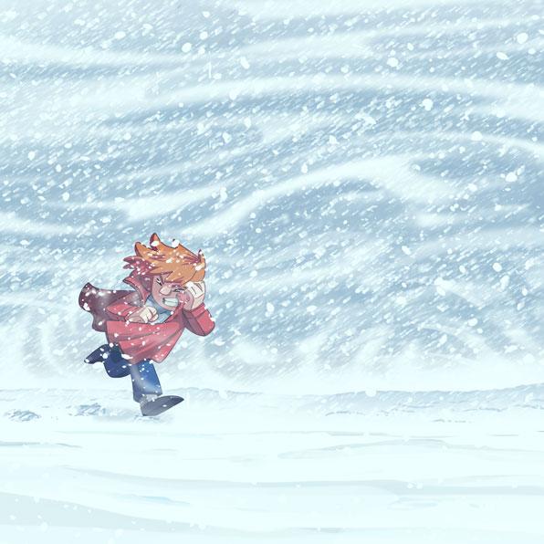 blow a blizzard